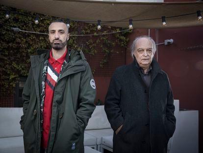 Enrique Vila-Matas y el rapero Toteking.
