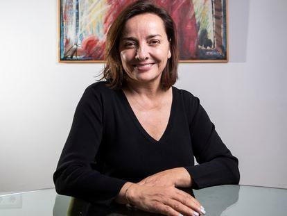 La periodista Pepa Bueno, este martes en Madrid.
