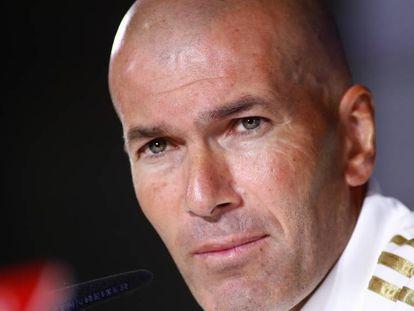 Zinedine Zidane, en la rueda de prensa del viernes.