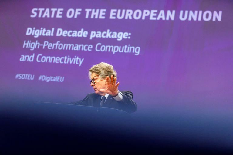 Thierry Breton, comisario europeo de Mercado Interior, en Bruselas el pasado septiembre.