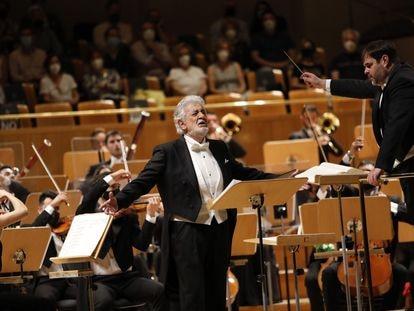 Plácido Domingo interpreta en el Auditorio Nacional el aria 'Nemico della patria?!' ('Enemigo de la patria'), de la ópera 'Andréa Chénier', de Umberto Giordano, en su regreso a los escenarios españoles.