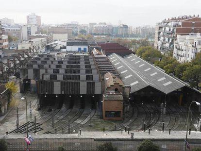 Las cocheras de metro en Cuatro Caminos.