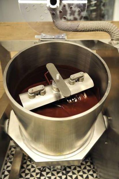 La máquina conchadora del Museu de la Xocolata.