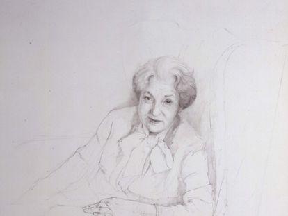'Retrato de Juana Mordó', de Daniel Quintero. 1982.