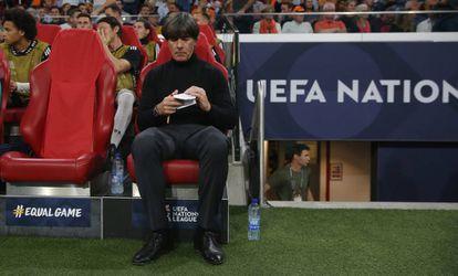 Joachim Löw durante el Holanda-Alemania del sábado (3-0).