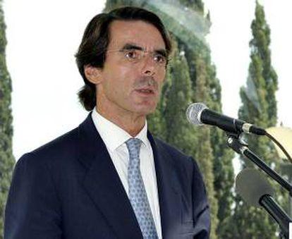 """En la imagen un registro del ex presidente del gobierno español José María Aznar, quien subrayó que el acuerdo contribuiría a """"crear la mayor alianza económica de la historia"""". EFE/Archivo"""