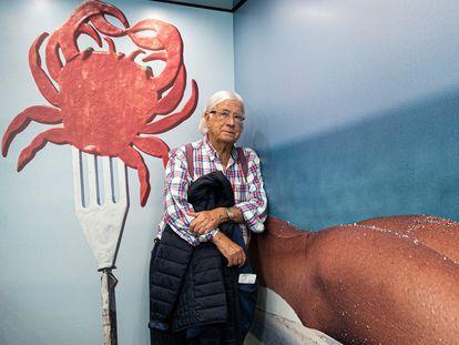 Carlos Pérez Siquier, en febrero de 2020, en la exposición sobre su obra que pudo verse en la Fundación Mapfre de Barcelona.