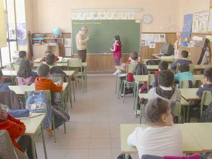 Alumnos de 3º de primaria del colegio Cervantes de Madrid.