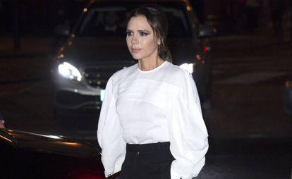 La cantante y diseñadora de moda Victoria Beckham en Londres, el pasado marzo.