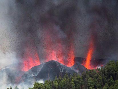 Una erupción volcánica ha comenzado esta tarde de domingo en los alrededores de Las Manchas, en El Paso (La Palma), después de que el complejo de la Cumbre Vieja acumulara miles de terremotos en la última semana.