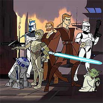 Imagen de la serie de animación <i>Star Wars: Las guerras clon.</i>