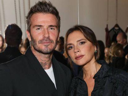 David y Victoria Beckham, en un evento en Londres (el Reino Unido), este lunes.