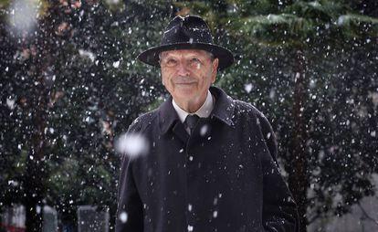El arquitecto Rafael Moneo este lunes en el Museo Thyssen de Madrid.