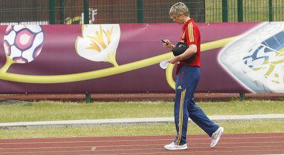 Fernando Torres, en el hotel de concentración de la selección.