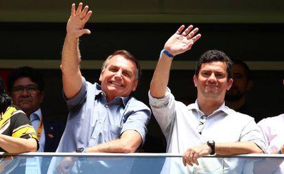 Jair Bolsonaro y Sergio Moro, exministro de Justicia, el pasado 16 de febrero.