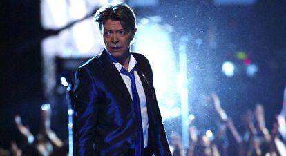 David Bowie, en el Radio City Music Hall en Nueva York en 2002.