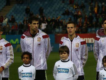 Thiago Alcántara, Javi Martínez, Azpilicueta y Diego Costa.