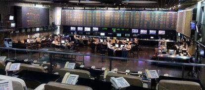 Sala de negociación de la Bolsa de Buenos Aires.