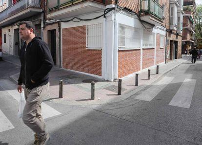 Un local convertido en vivienda en un barrio del sur de Madrid.
