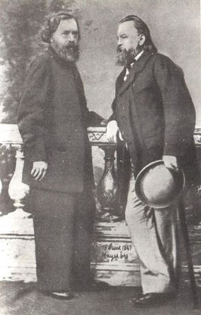 Ogarev y Herzen.