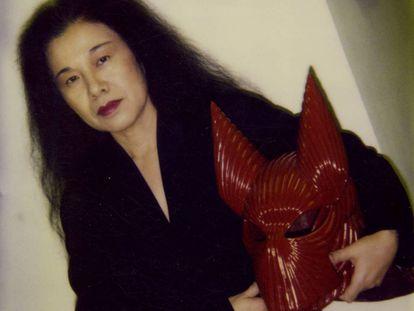 """Eiko Ishioka durante el rodaje de la película """"Dracula de Bram Stoker"""""""