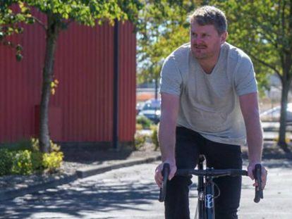 Floyd Landis, en bicicleta en Portland el pasado septiembre.
