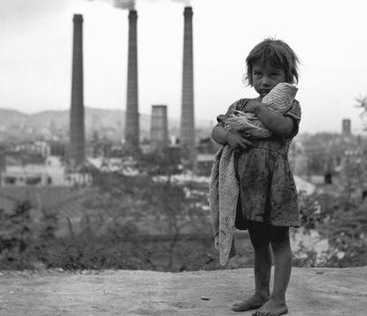 Gitanilla. Montjuic.Barcelona. 1950
