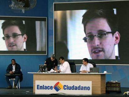 El presidente Correa habla del caso Snowden en televisión este sábado.