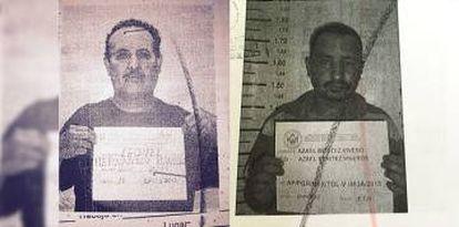 Leonel y Azael, en imágenes de los expedientes.