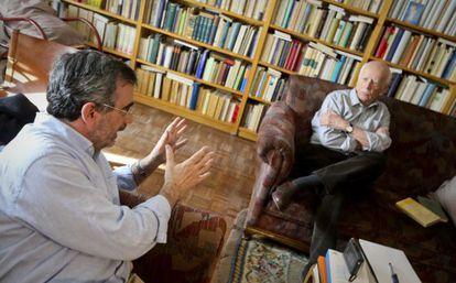 Cruz y Lledó, durante la charla.