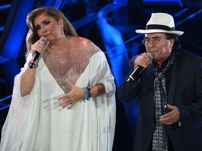 Romina y Al Bano, en el Festival de San Remo 2020.