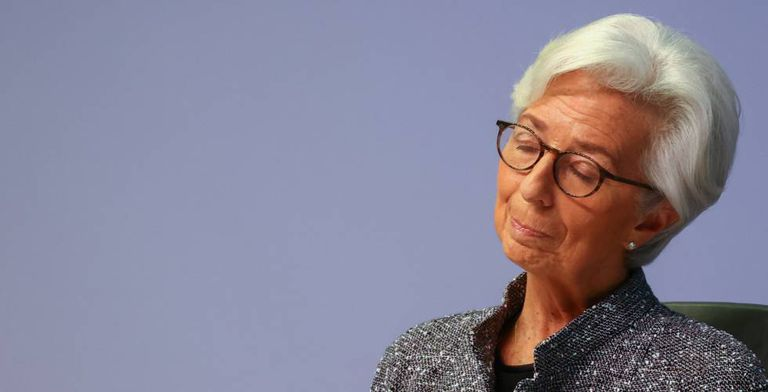 Christine Lagarde, presidenta del BCE, el jueves.