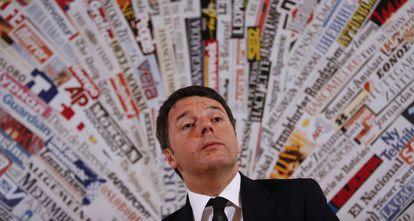 Matteo Renzi, el lunes en Roma.