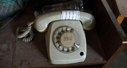 Uno de los teléfonos utilizados por los agentes secretos.