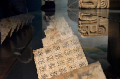 Pieza mostrada en la exposición Aztecas, que abrió este jueves al público en el Museo Etnográfico de Viena (Weltmuseum). EFE/ Jorge Dastis