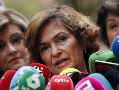 Carmen Calvo califica de  exabruptos  las respuestas de Pablo Echenique