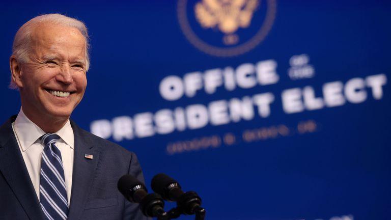 Joe Biden, presidente electo de Estados Unidos, en un evento en Wilmington.