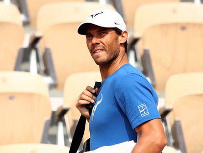 Getty Firma: Cameron Spencer Pie de Foto: Nadal, durante un entrenamiento en Roland Garros.