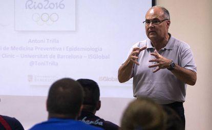 Antoni Trilla, jefe del servicio de Medicina Preventiva y Epidemiología del Hospital Clínic de Barcelona, en un centro de alto rendimiento, en 2016.