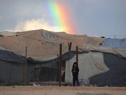 Un niño sirio refugiado en el campo de Zaatari, en Jordania.