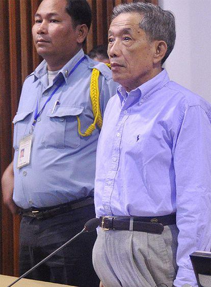 Kaing Guek Eav, alias 'Duch', durante el juicio en Phnom Penh.