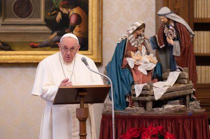 El papa Francisco, durante el Ángelus del pasado domingo.