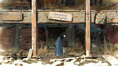 Una secuencia de 'Las golondrinas de Kabul'