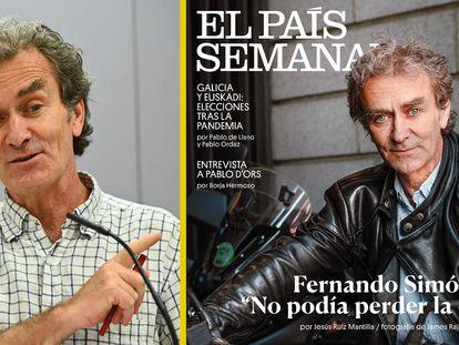 Fernando Simón reacciona a su portada de EL PAÍS SEMANAL