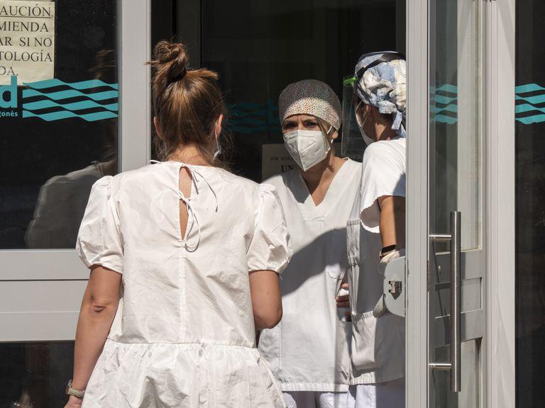 El centro de salud de Binéfar, en una de las comarcas afectadas por el brote de covid-19 en Aragón.
