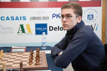 David Antón, a punto de comenzar una partida durante el reciente torneo de Gibraltar