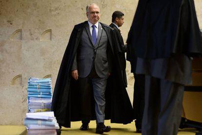 El juez Edson Fachin, el jueves, en el Tribunal Supremo brasileño, en Brasilia.