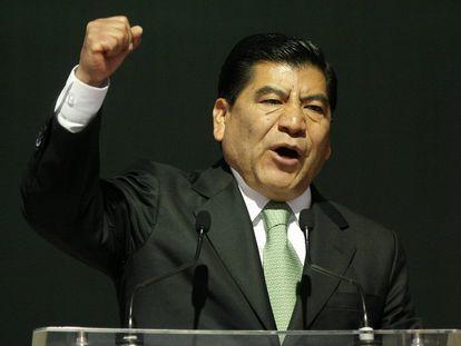 El exgobernador de Puebla Mario Marín, en un acto en enero de 2011.