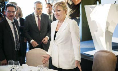 Elena Valenciano, ayer en un acto en Barcelona.
