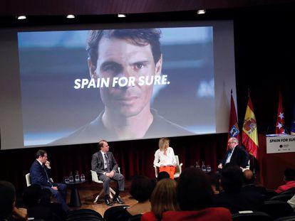 Presentación, el pasado 18 de junio, de una campaña internacional del Gobierno para promover el turismo en España.